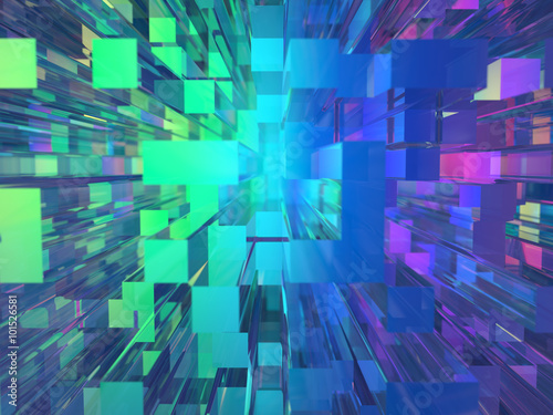 Abstract glass buildings background