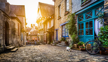 Old town in Europe at sunse...
