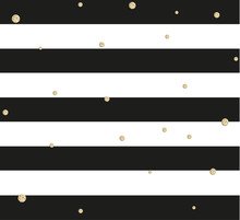 Gold Glittering Confetti Seamless Pattern On Stripe Background