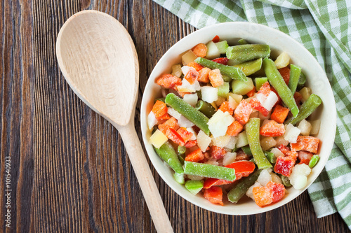 Obraz mixture frozen vegetables - fototapety do salonu