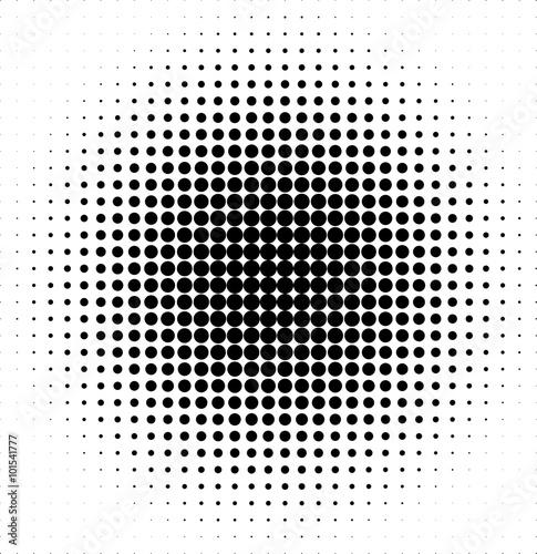 Fotografie, Tablou  Halftone pattern vector