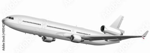 Passagierflugzeug weiss, freigestellt Canvas Print