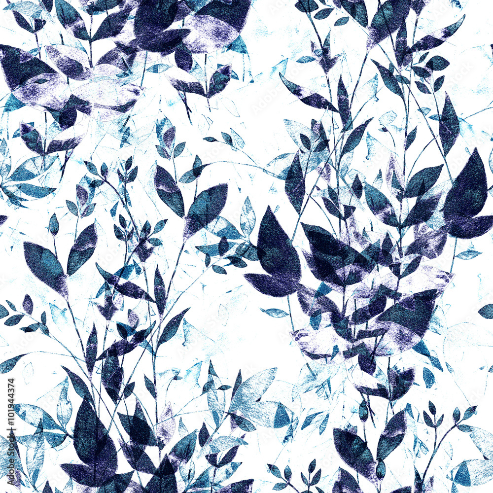 Abstract background base on watercolor painting. Hand drawn seamless pattern.