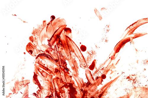 Blood splatters Canvas Print