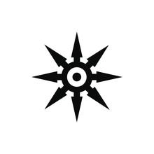 Shuriken Black Simple Icon