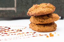 Molasse Cookies Close Up