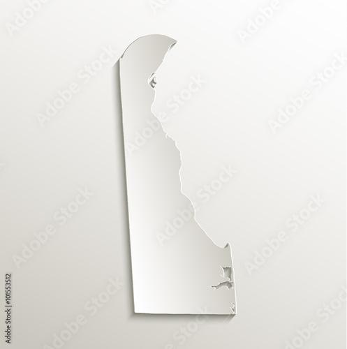 Valokuva  Delaware map card paper 3D natural vector