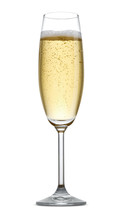 A Glass Of Champagne Isolated ...