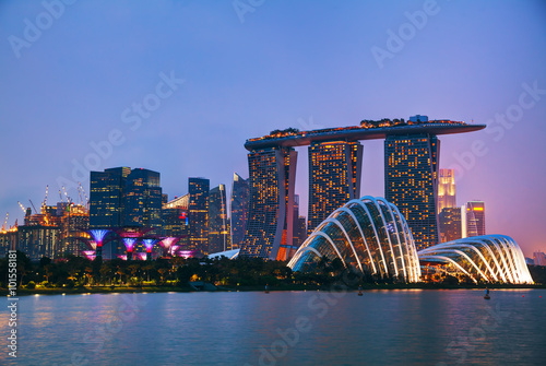 Foto op Plexiglas Singapore Singapore financial district