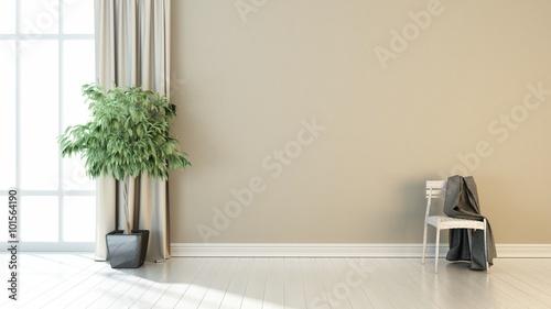 Aluminium Prints Bonsai Modern bright interior. 3D render