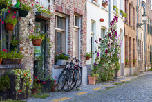 Bicycles And Flowers Near The ...