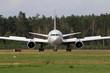 Flugzeug nach der Landung