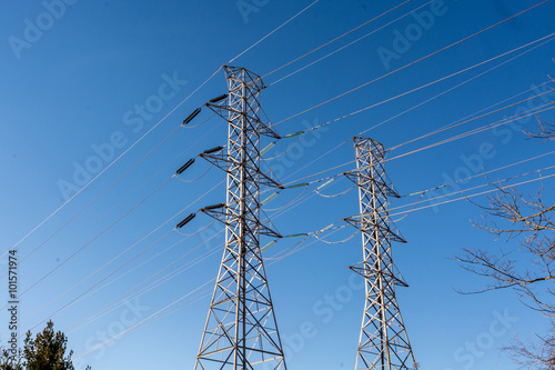 Electric power line – always look solid  Blue and freezing