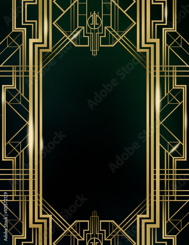Great Gatsby Art Deco Background Buy This Stock