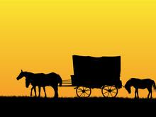 Western Stage Coach Wagon