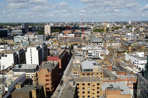 Valokuvatapetti Aerial view of Hackney, London