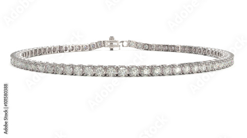 Fotografie, Obraz Diamond tennis bracelet