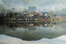 Old Village Is Reflection Rak Thai Village In Pai,Mae Hong Son,Thailand.