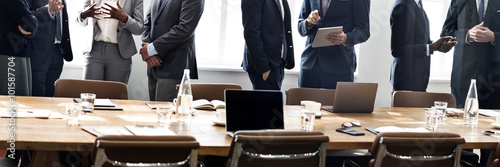 Obraz Business People Meeting Discussion Working Concept - fototapety do salonu