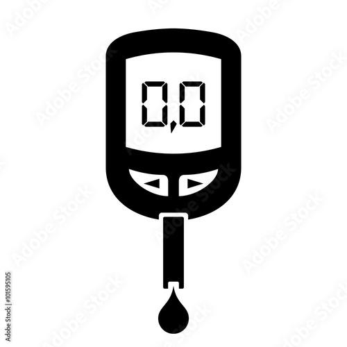 Fotografía  Glucose meter icon