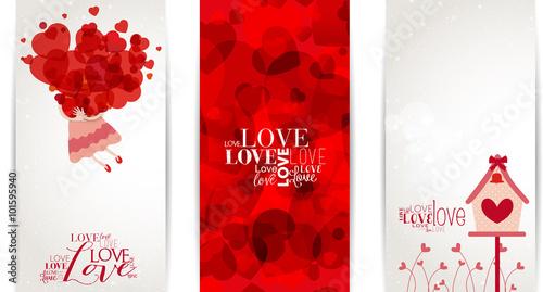 Obraz na plátně Love Banner
