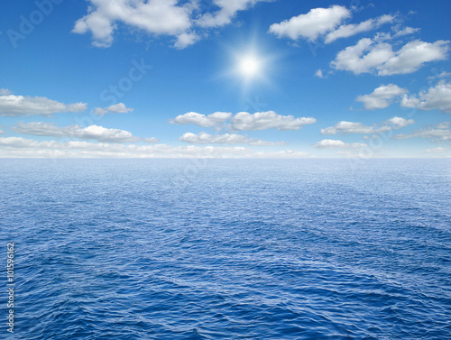 Foto op Canvas Zee / Oceaan Beautiful sky and blue ocean