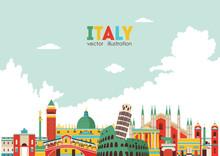 Italy Skyline. Vector Illustra...