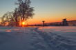 canvas print picture - Sonnenaufgang am Kahlen Asten