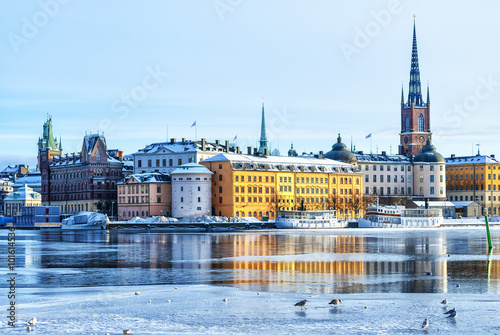 Stockholm Old Town Canvas Print