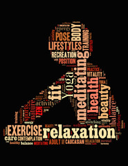 FototapetaYoga Exercise, word cloud concept 2