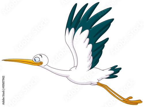 Stork flying #101617962