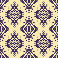 Panel Szklany Boho Vector colorful seamless decorative ethnic pattern. American indian motifs. Background with aztec tribal ornament. Boho style.