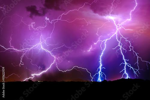 Lightning storm, Arlington, Arizona, America, USA