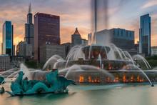Buckingham Fountain, Chicago, Illinois, America, USA
