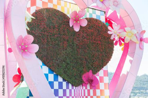 Valokuva  Love shape garden