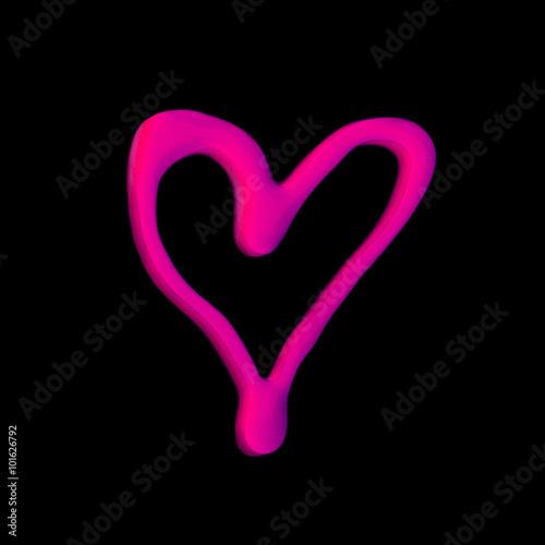 Coeur D Amour En Maquillage Vernis à Ongles Rose Sur Fond