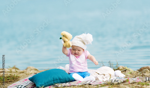 Fotografie, Obraz  Little whimsical girl.