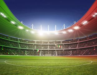 Fototapeta stadion piłkarski w barwach Włoch