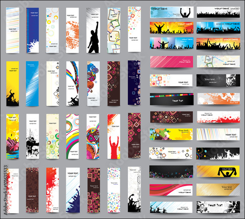 Fotografia  Mix Collection vertical and horizontal banners