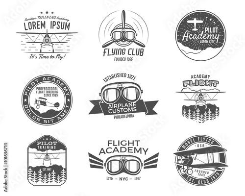 Photo Vintage airplane emblems