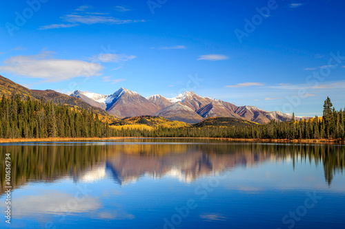 Fall reflection in Wrangell-St.Elias National Park, Alaska Wallpaper Mural