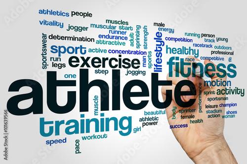 Fotografía  Athlete word cloud concept