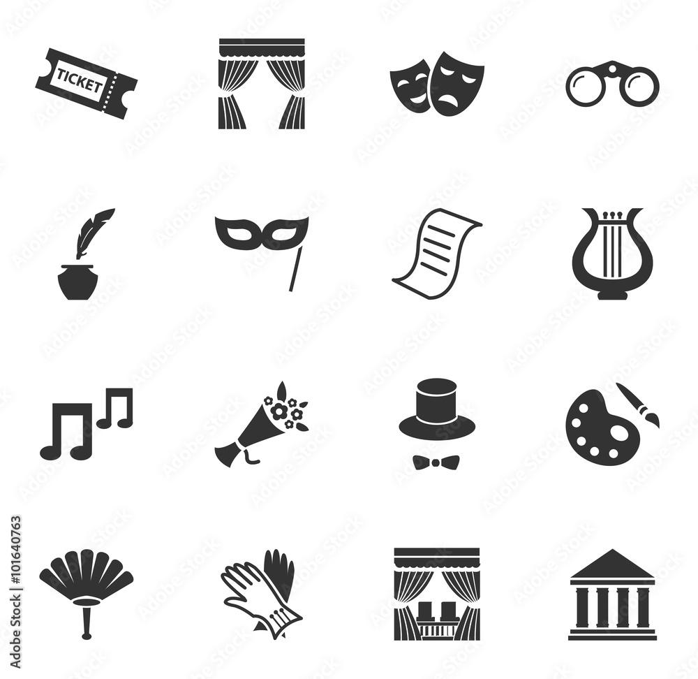 Fototapeta Theater icons set