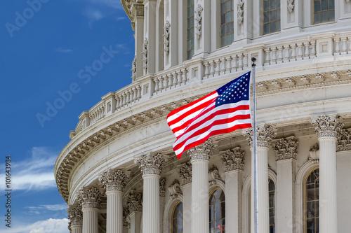 Foto op Plexiglas Texas Washington DC Capitol detail on cloudy sky