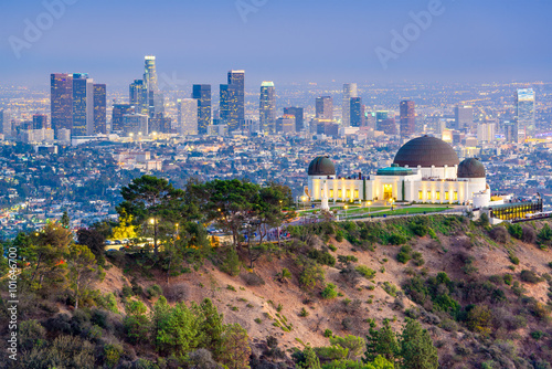 Griffith Park, Los Angeles, California, USA Skyline Canvas Print