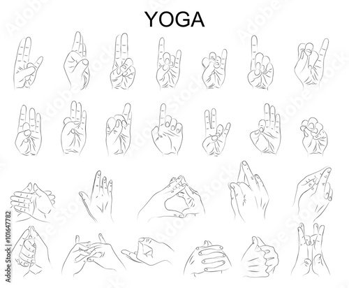 the position of the hands in yoga, in meditation Canvas Print