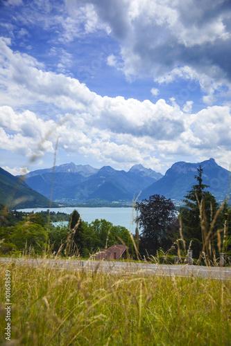 Fotobehang Fantasie Landschap Annecy lake, Haute Savoy, French Alps