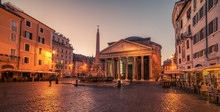 Rome, Italy: The Pantheon In T...