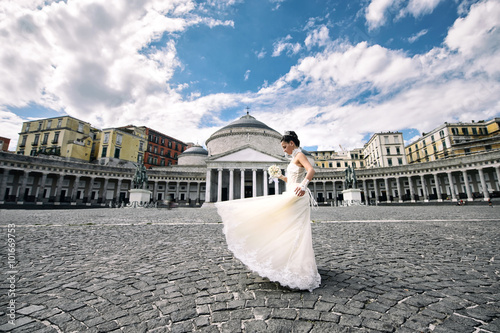 Fotografie, Tablou  Wedding square plebiscite in Naples