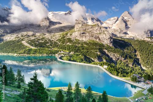 Fotografie, Obraz  Marmolada ledovec, dolomity, Itálie
